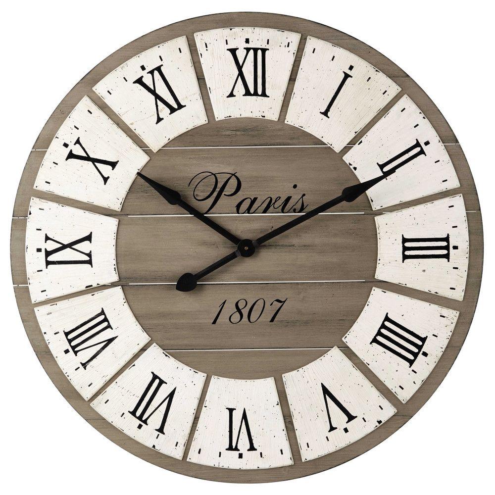 Horloge En Sapin D92 Deco Horloge Bois Horloge Murale