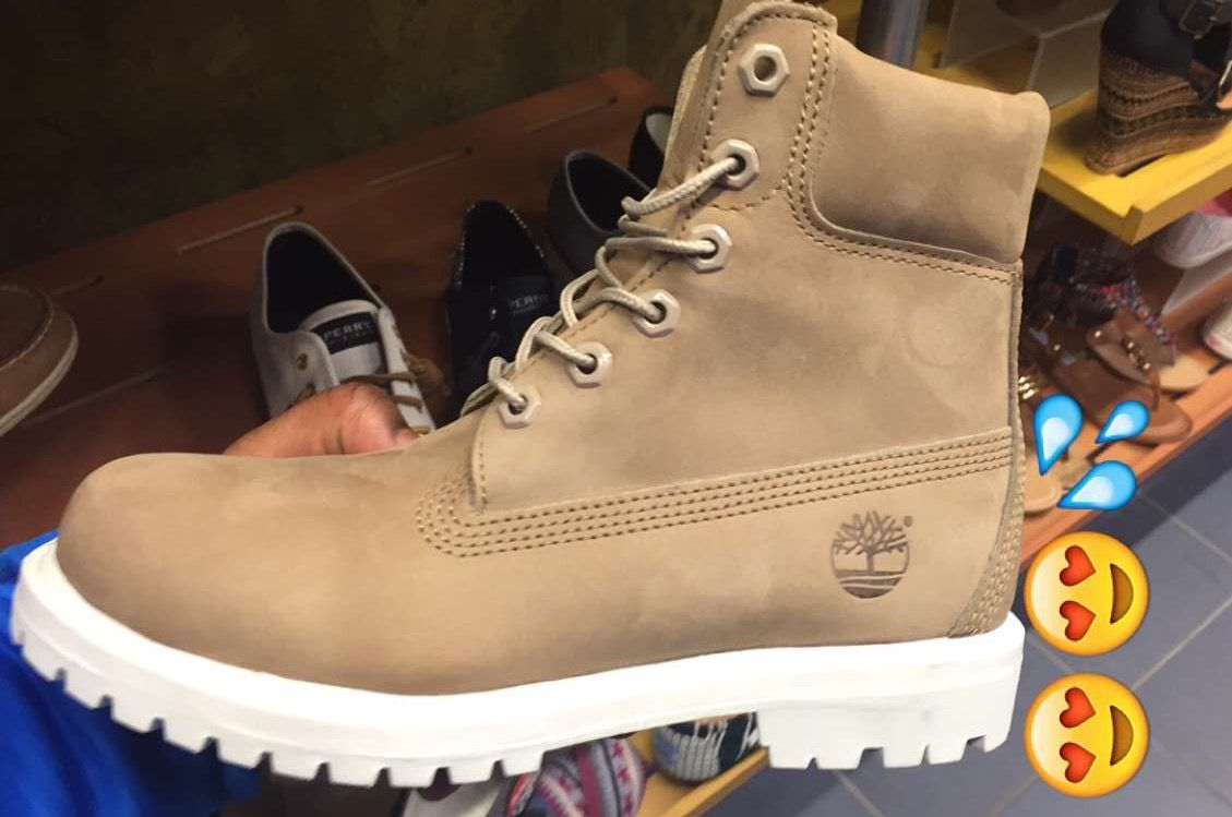 You don't understand how bad I wanted these when I first saw them in the store. I almost cried. (Nude Timbs❤️)