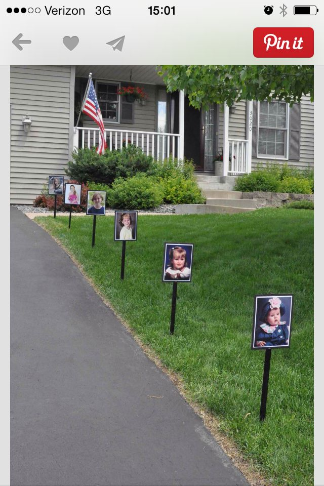 Driveway Signs For Open House Backyard Graduation Party