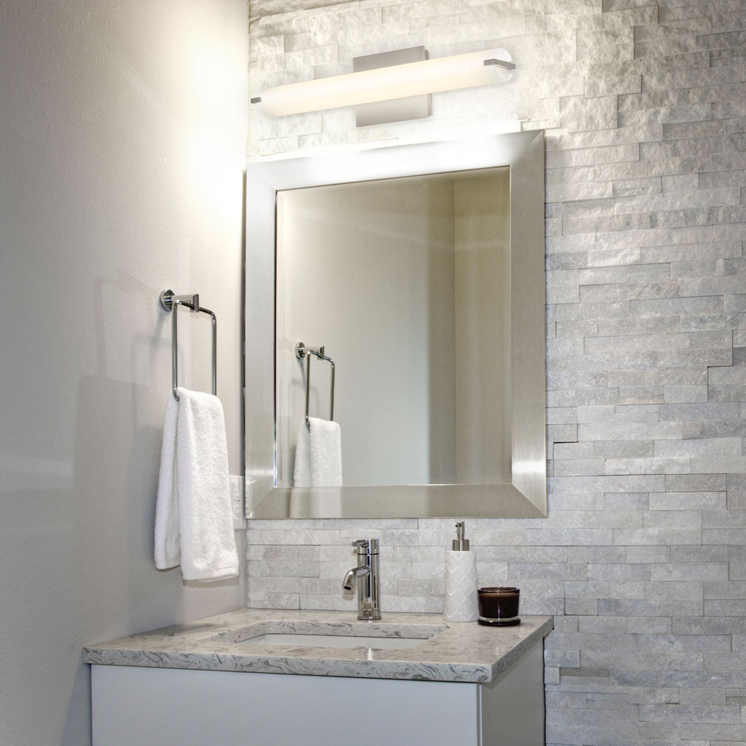 How To Contemporary Bathroom Update Is It Time For The Bathroom Make Over You Ve Been Dreaming Modern Bathroom Lighting Vanity Lighting Decor Interior Design