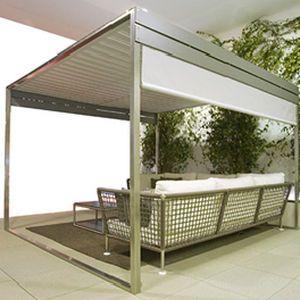 Self-supporting pergola / aluminum / fabric sliding canopy - WATERPROOF by Filippo Marsigli - Coro & Coro Waterproof Pergola | roof | Pinterest | Pergolas Deck ...