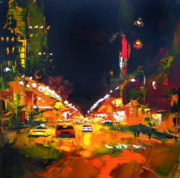 Daniel Castan Peinture De New York Paysage Urbain Blog Art