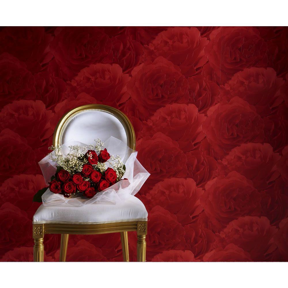 Red Wallpaper For Bedroom Bedroom Rasch Tiles Red Rose 818437 Floral Coloured