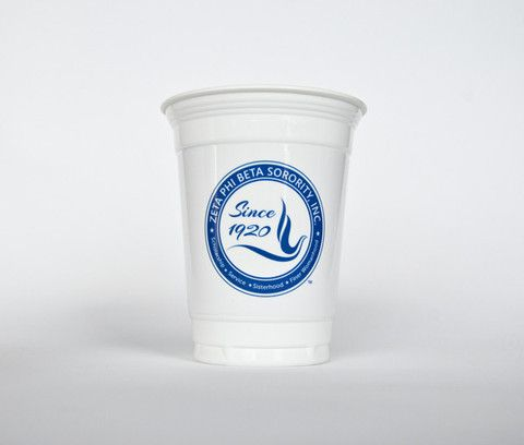 ZPB 16 oz White Plastic Cup – Greek Occasions