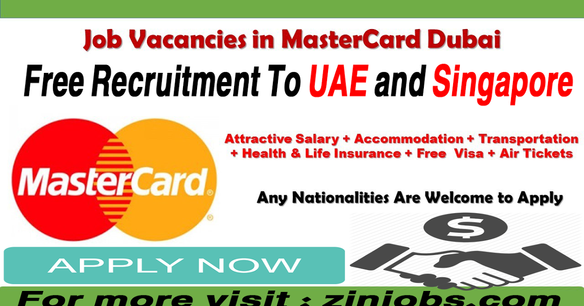 Latest Mastercard Jobs In Uae Life Insurance For Seniors