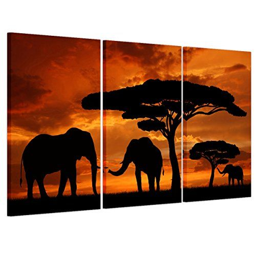 New Elephant Walking on Road Poster Print Home Art Decoration Pictures