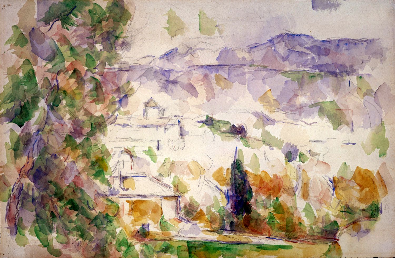 Localisation De L Aquarelle Environs D Aix Paul Cezanne