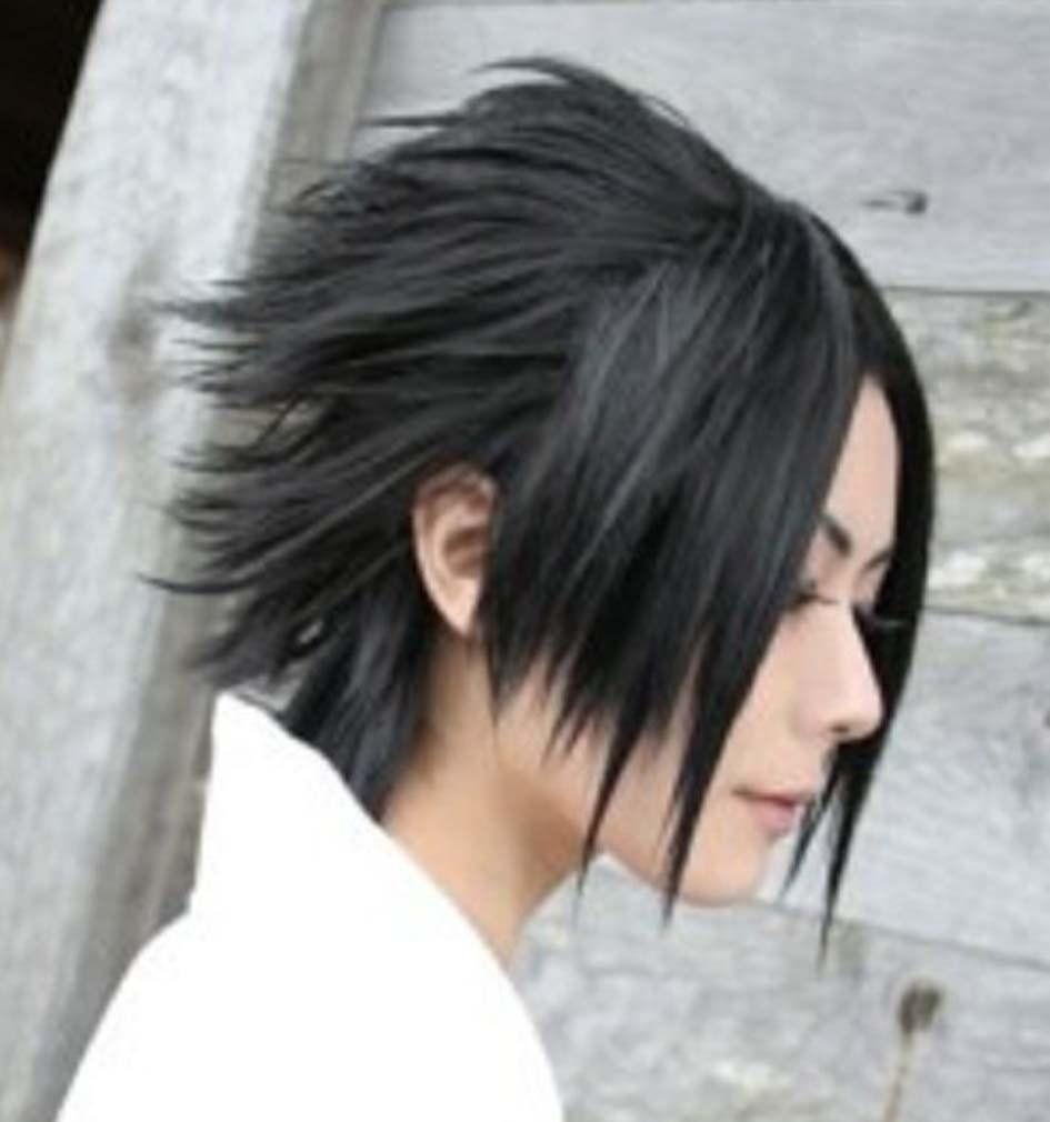 Amybria Popular Sasuke Short Black Straight Cosplay Wig Cosplay Wigs Wigs Long Hair Styles