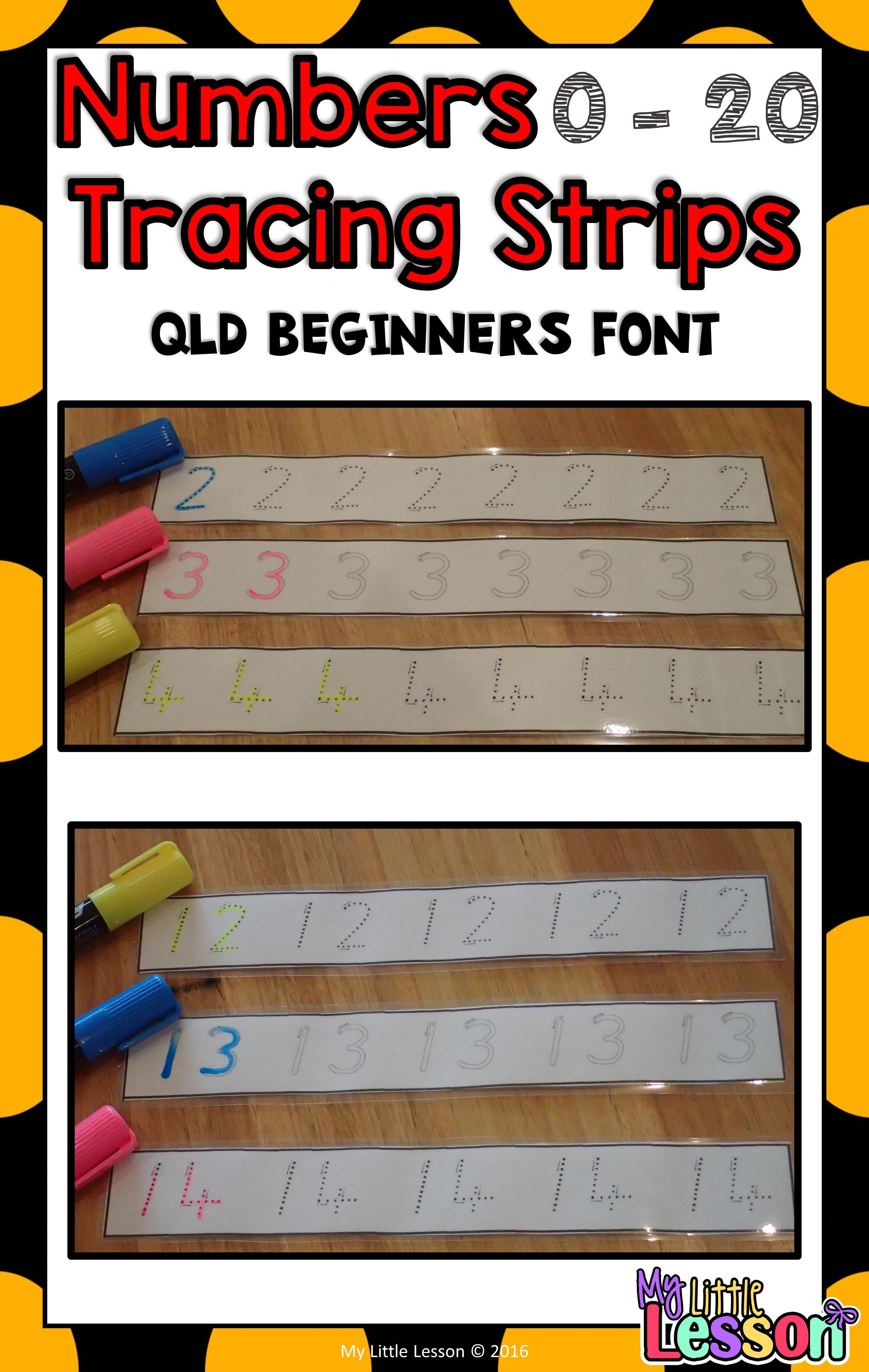 These Numbers 0 20 Tracing Strips Have Been Created In The Queensland Beginners Font They Are