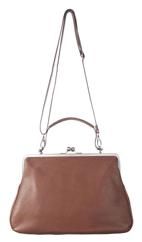 565a9e2281e4f Handtasche BT9 GRACE velvet umbra Leder Bügeltasche Damen leather bag brown  braun Hänkeltasche