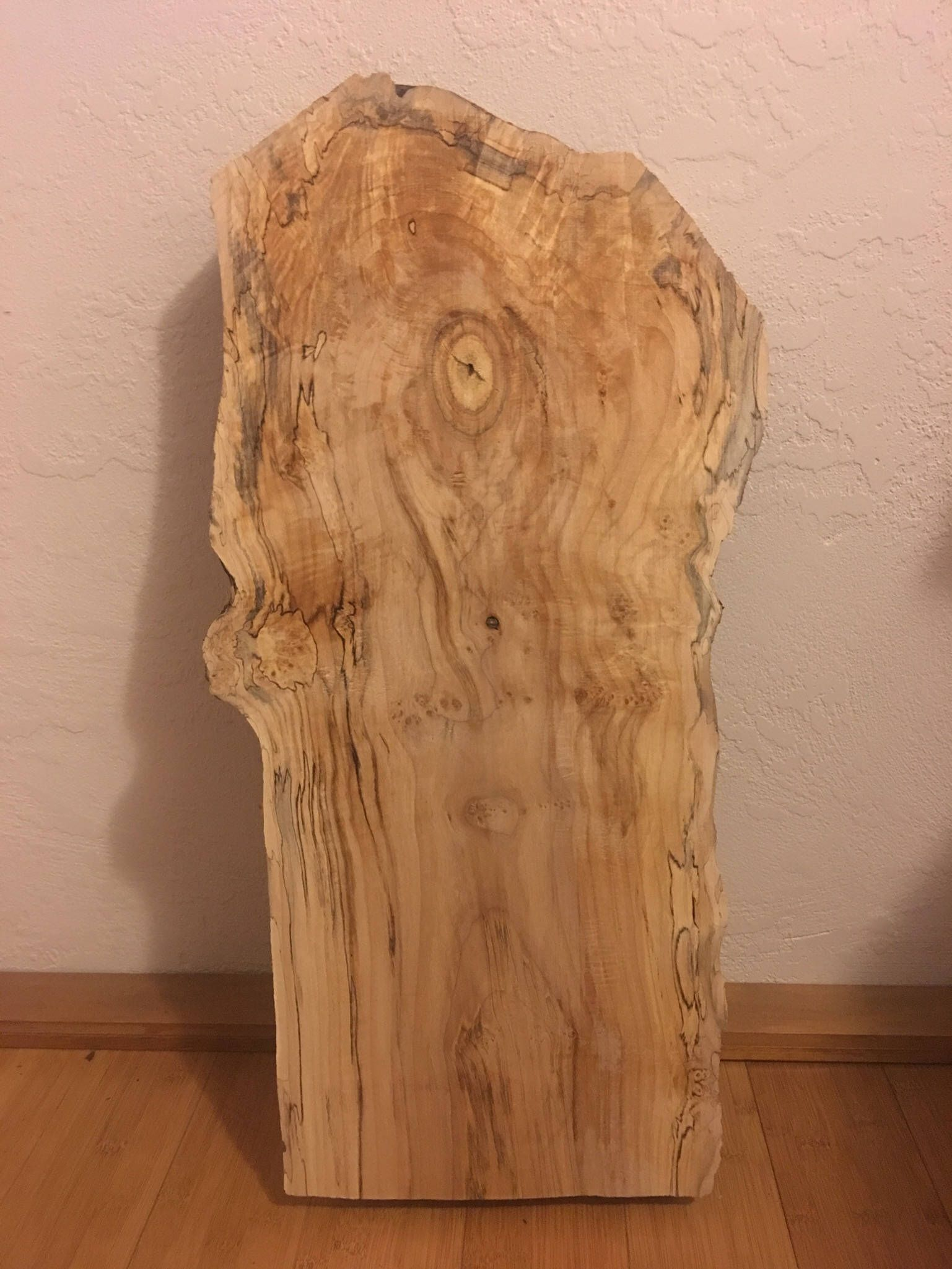 Live Edge Spalted Maple Wood Slab Dimensions 26 1 4 Length 12 6 16 Width 2 Thick This Listing Is For One Live Edge U Wood Slab Maple Wood Spalted Maple
