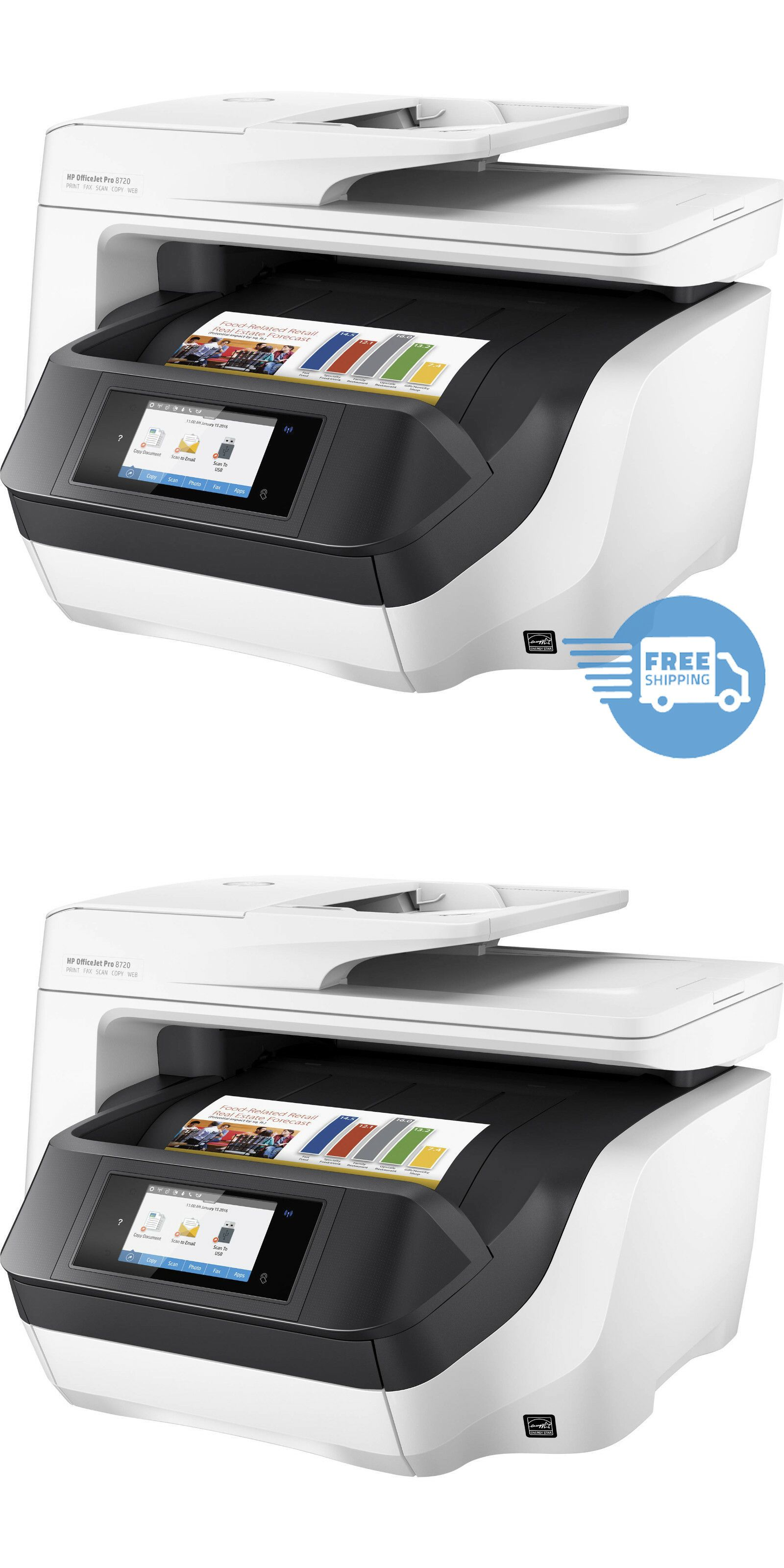 Printers 1245: Hp Officejet Pro 8720 White All-In-One Printer