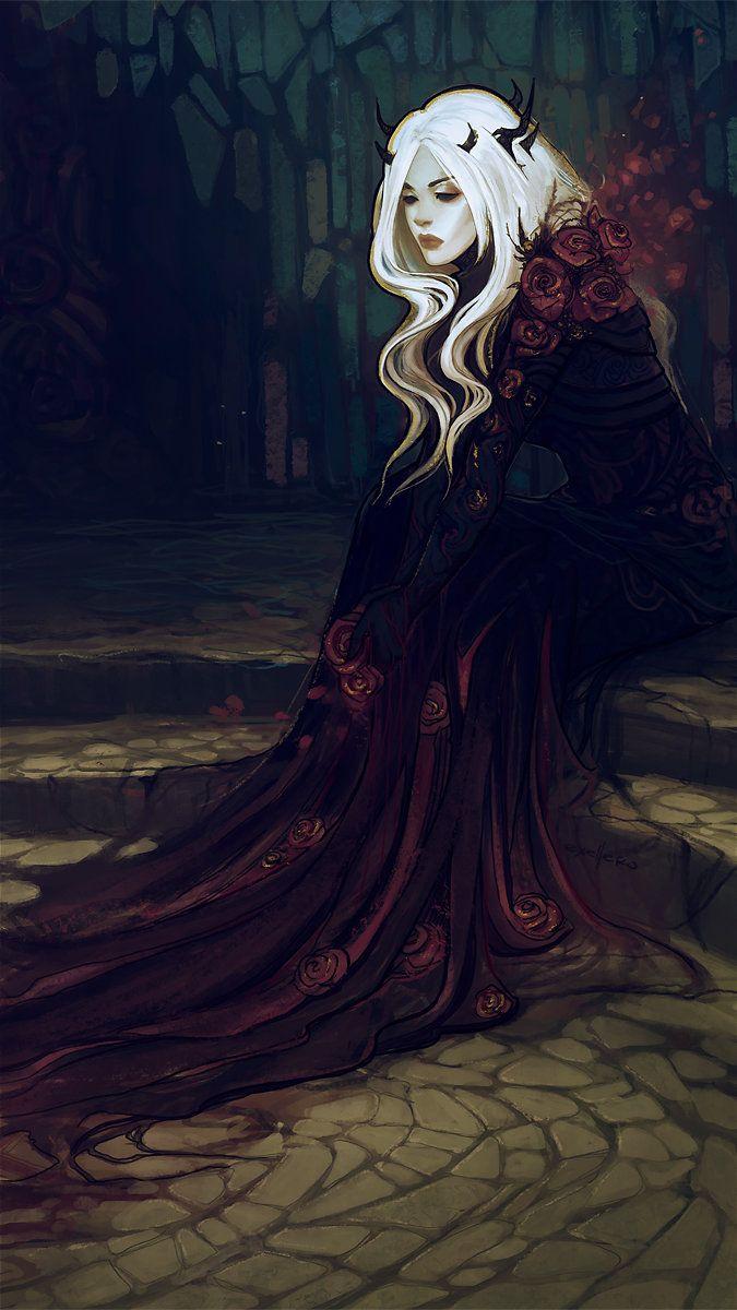 ArtStation rose, · exellero · Fantasy artwork, Fantasy