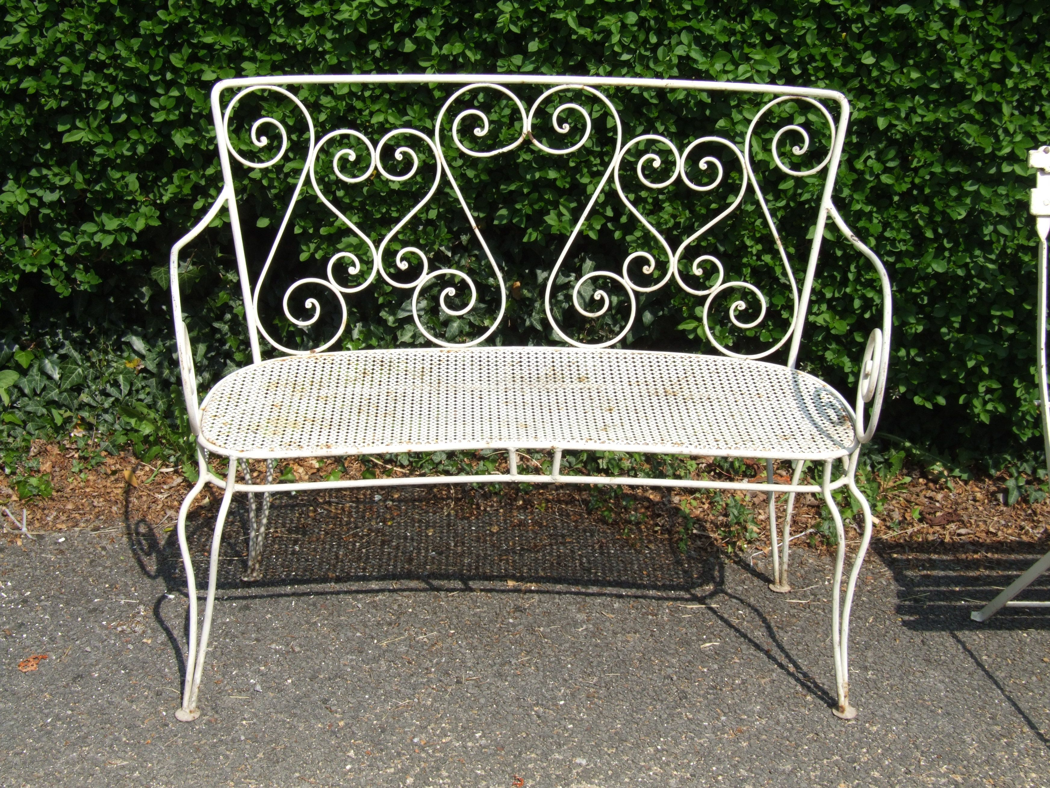 Phenomenal G088 Gorgeous Vintage French Wrought Iron Garden Bench Gmtry Best Dining Table And Chair Ideas Images Gmtryco