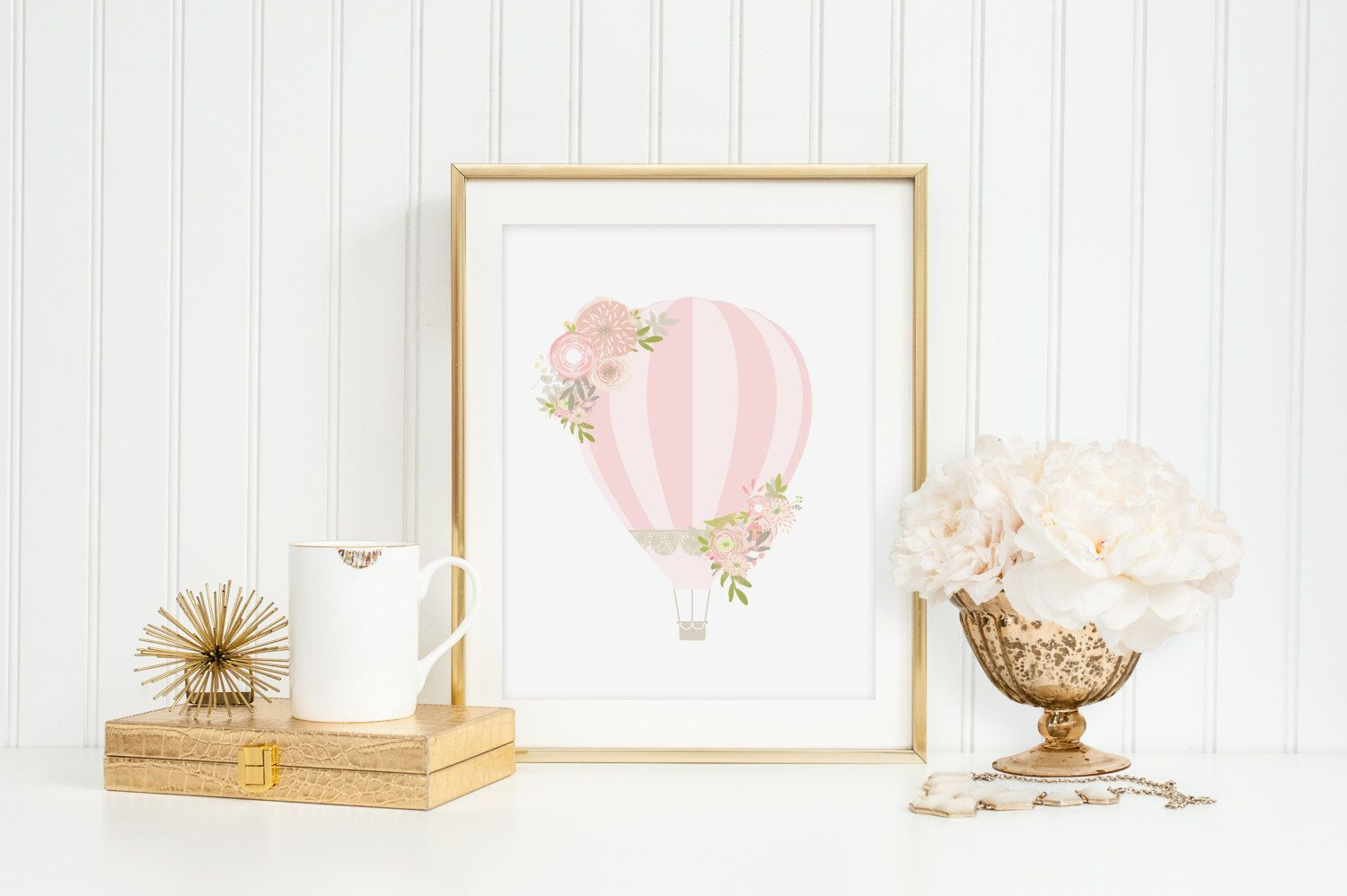 Pink Hot Air Balloon Print Wall Art Watercolor Nursery Blush Ballet Powder Flowers Girly Print Digital Drawing Handpainted Wall Art by froufroucraft on Etsy https://www.etsy.com/listing/232721166/pink-hot-air-balloon-print-wall-art