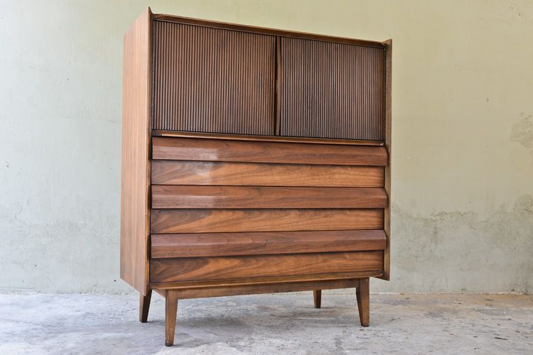 Lane \u0027First Edition\u0027 Walnut Tall Boy Dresser Lane bedroom set in - Lane Bedroom Furniture