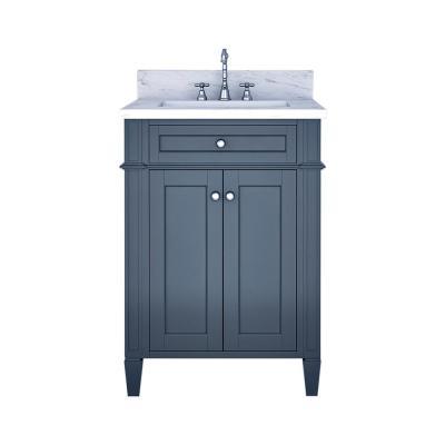 Glacier Bay Nevada 24 In W X 35 In H X 17 In D Bath Vanity In White With Vanity Top In White Ne2416p2 F Marble Vanity Tops Bathroom Vanity Single Bathroom Vanity