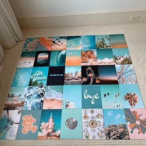 Summer Blue Collage Kit - Collage Wall Decor #collagewalls