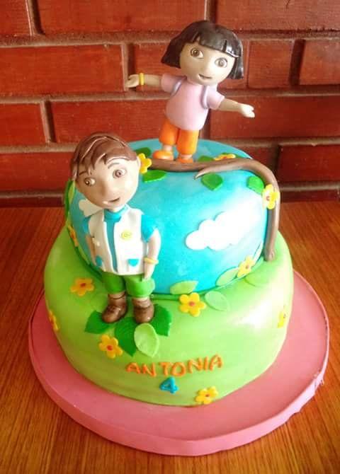 Dora DiegoGo fondant cake by Volovn Productos