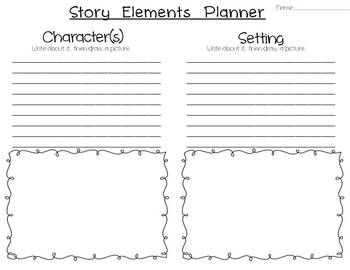 GRAPHIC ORGANIZER - Fiction Story Planner using Story