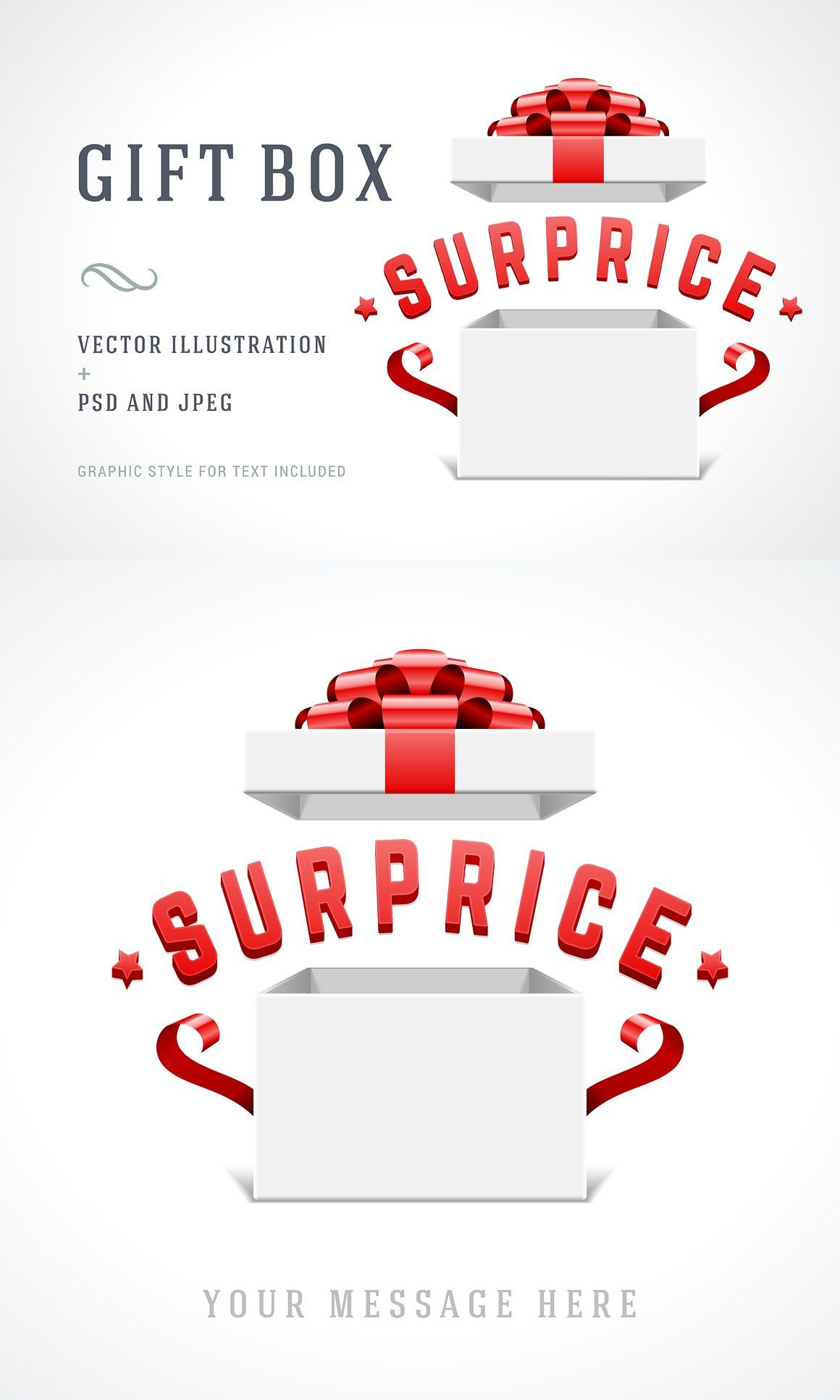 Gift box illustration VectorZoomFeaturesPSD Gift box