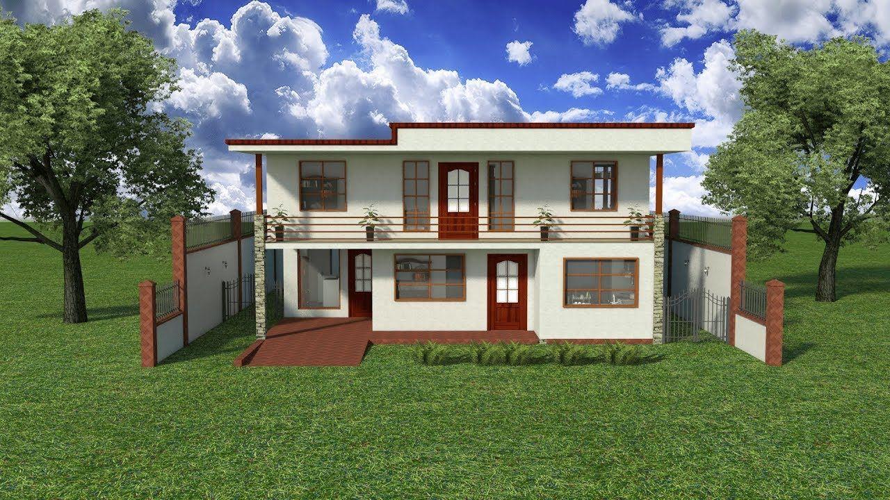 Disenos Planos 3d Casa Sencilla 2 Pisos Proyecto Cdp K1 Recursos De Arq Recursos De Arquitectura Casa Sencillas Casas