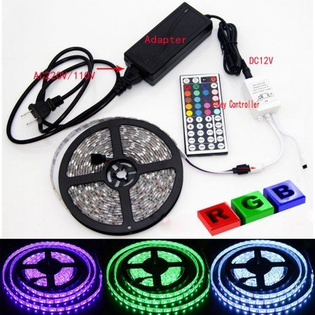 Led Light Strips Walmart Casung 5M 5050 Rgb Led Strip Light Ip65 Waterproof 300 Leds Smd