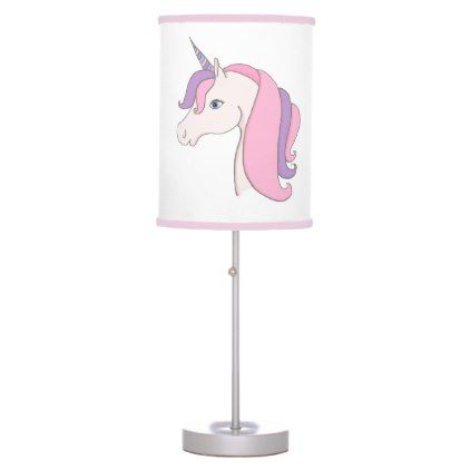 Lovely Pink Fairytale Unicorn Girls Bedroom Desk Lamp | Zazzle.com images