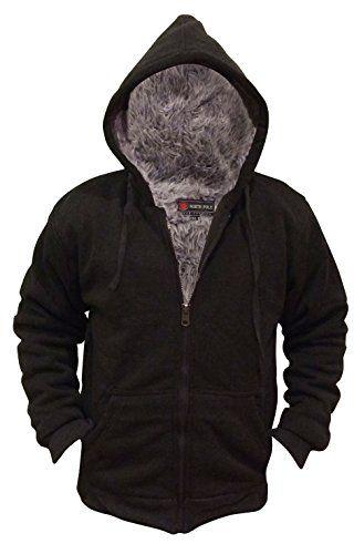 a85a6f958864 TOPSELLER! Mens Fur Lined Fleece Full Zip Hoodie  24.99