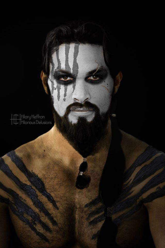 Khal Drogo  | Game of Thrones War Paint by Hilary Heffron