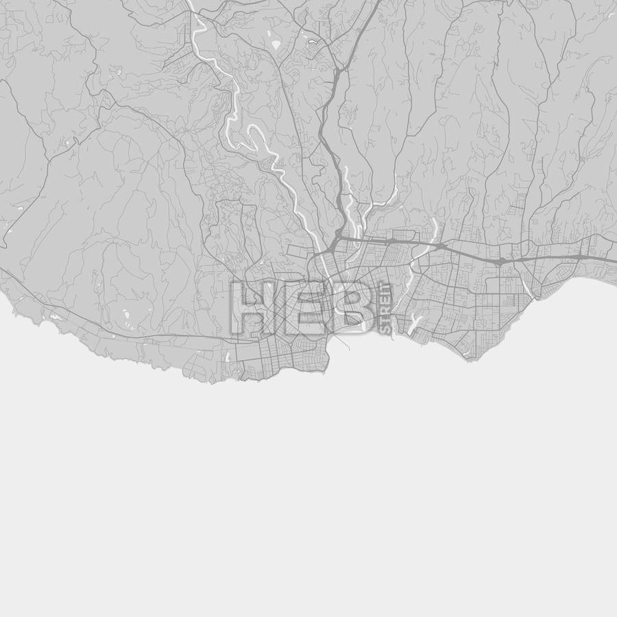 Santa Cruz downtown and surroundings Map in