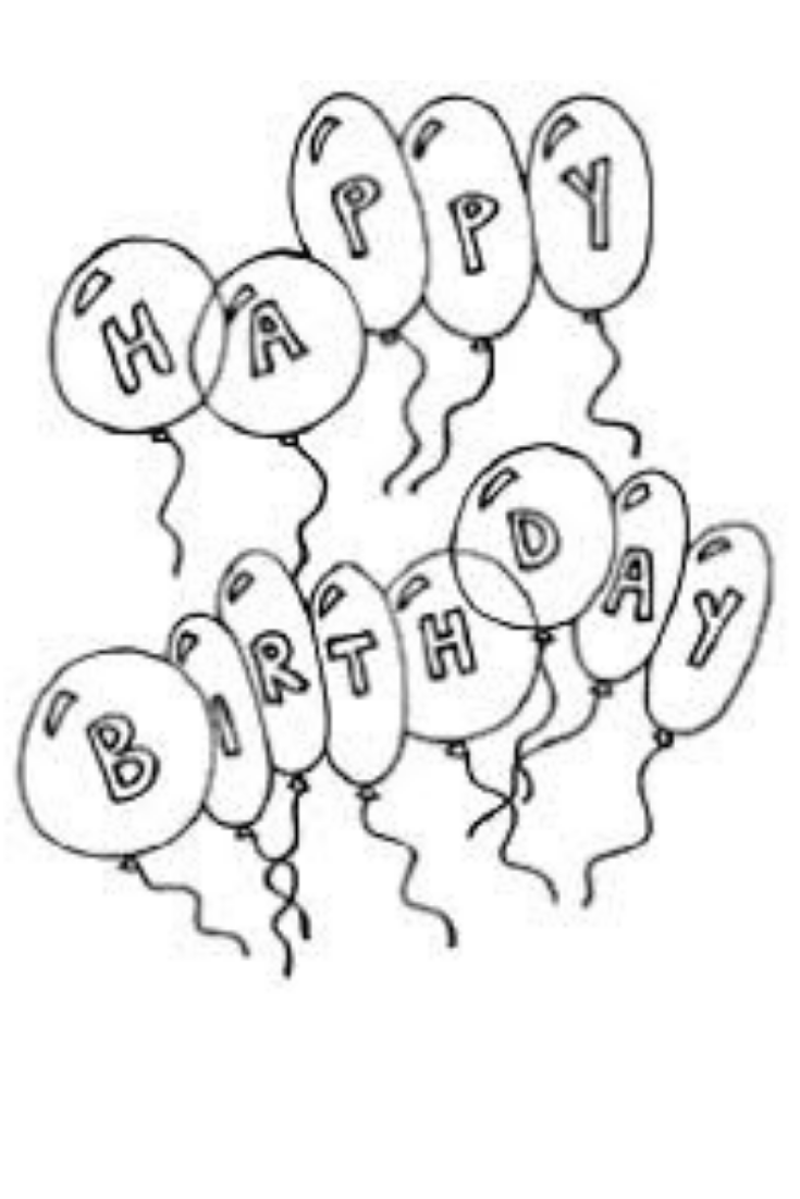 - Birthday Balloons Coloring Page Happy Birthday Coloring Pages