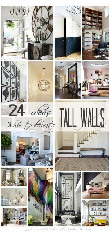 24 Ideas On How To Decorate Tall Walls Remodelaholic Large Wall Decor Living Room High Ceiling Living Room Big Wall Decor