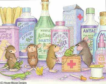 """""""Mudpie, Maxwell, Muzzy and Amanda"""" from House-Mouse Designs®"""