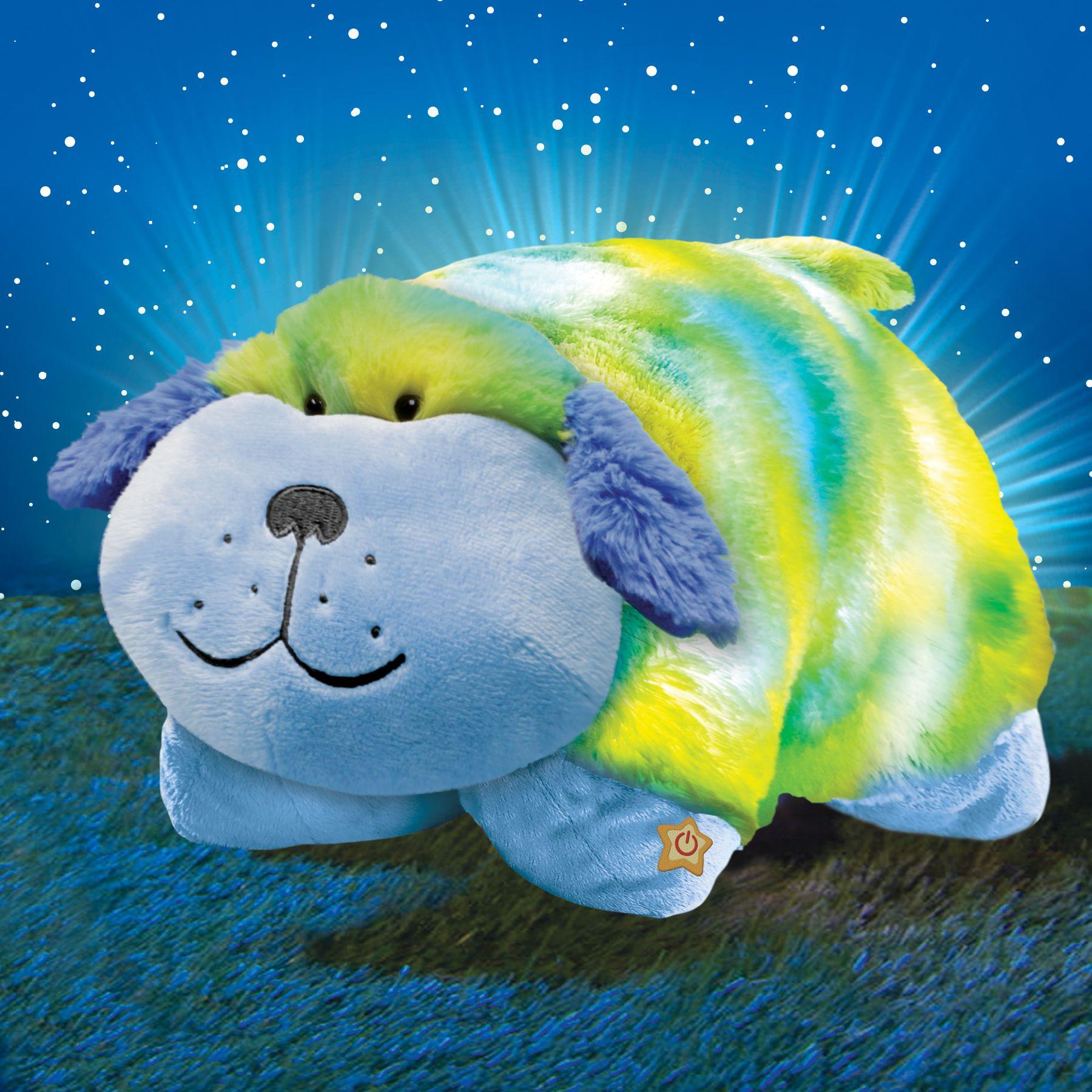 tie dye glow pets dog animal pillows