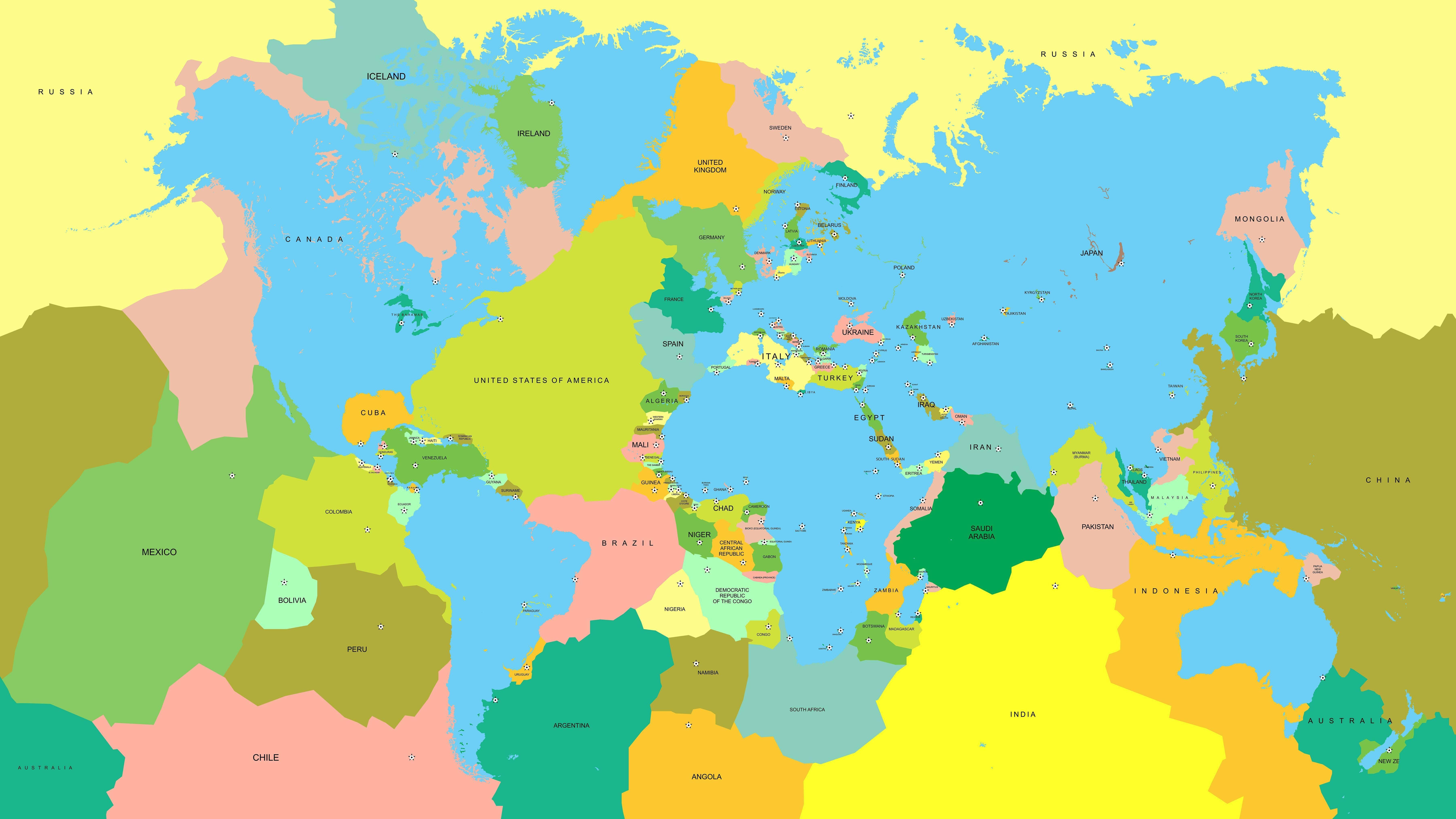 Mapsontheweb Alternative Land Water Inverted World Map Contexto