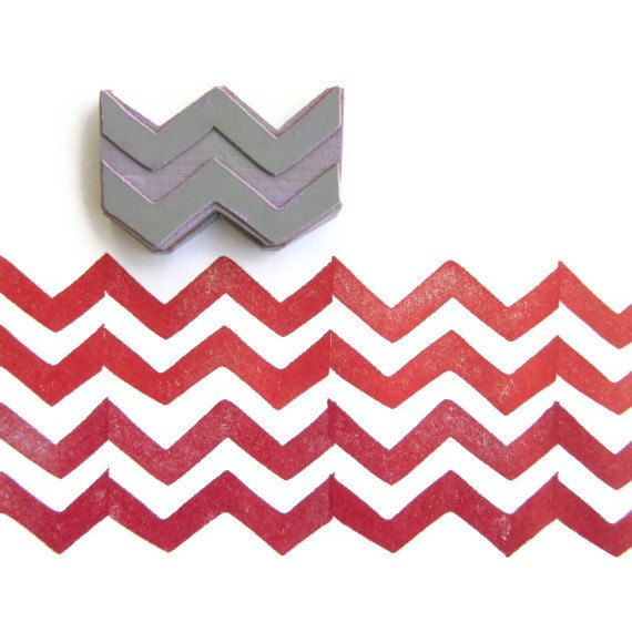 Chevron Pattern Maker - Rubber Stamp - Cling Rubber Stamp | pottery