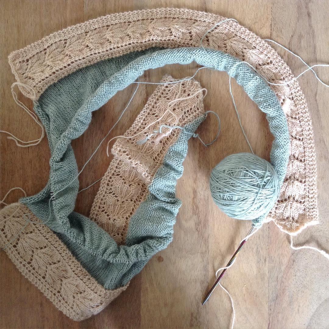 J'aime ce projet ! #oldromance #teamoldromance #kaloldromance #ticottherapie #knittingmakesmehappy #leslainesduscarabee