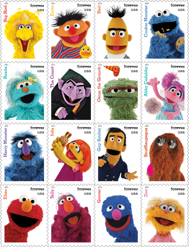 Sesame Street S 50th Anniversary Stamps Are Quite Literally The Cutest Things We Ve Ever Seen Sesame Street Muppets Sesame Street The Muppet Show