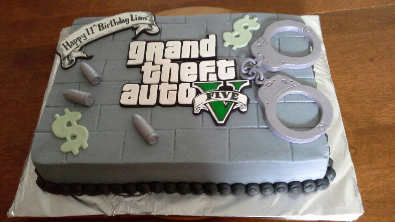 Grand Theft Auto Cake With Images Cake Cool Cake Designs