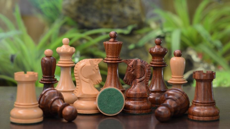 Handcrafted In India, These Chess Pieces Exude Class And History.  Appropriately Weighted These Pieces Pieces Are Very Stable On Board And A  Pleasure To ...