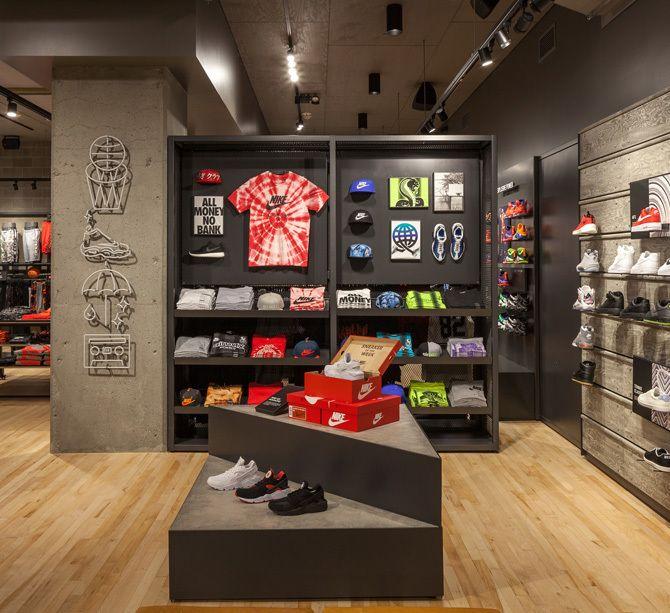 Soportar incidente interfaz  Nike Seattle - Jessica Davis   Retail space design, Shop interior design,  Clothing store interior