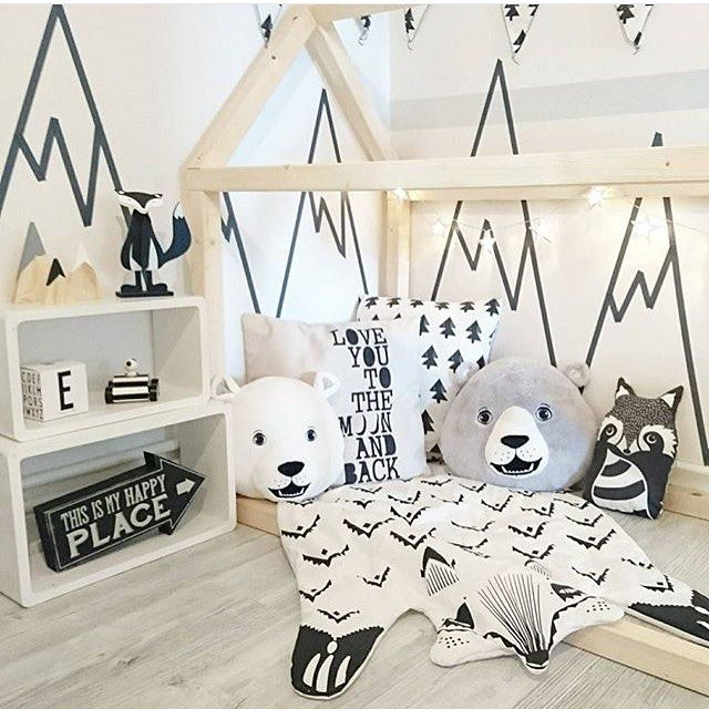Your Little One Will Love These 8 Gender Neutral Nurseries: Love This! And So Creative Making The Mountain Tops With