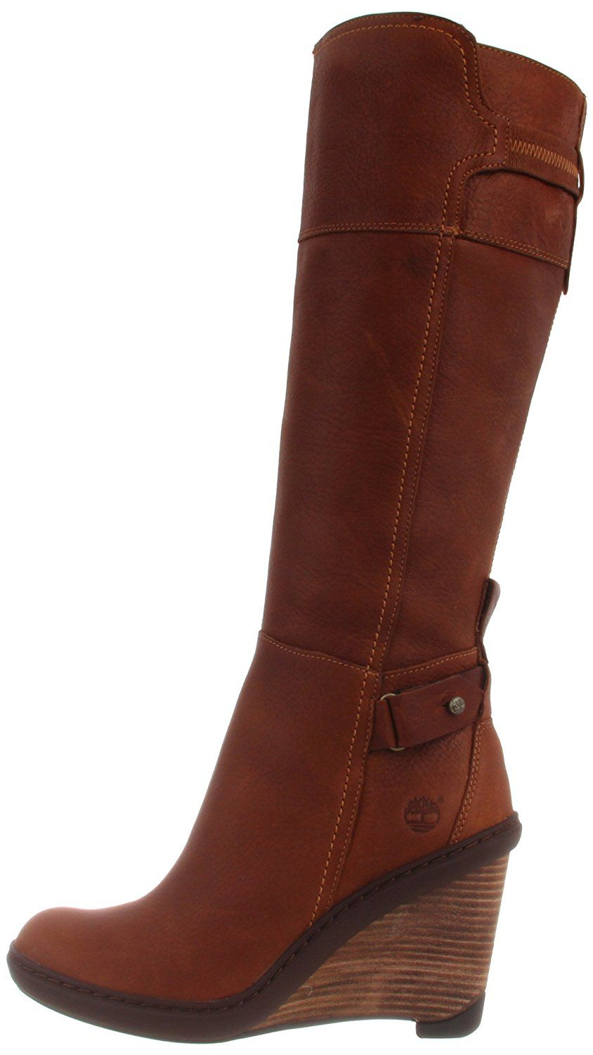 Timberland Stratham Heights Wedge Tall Boot - Women s Medium Brown 5.5 Wide 6aca81ba3b9f