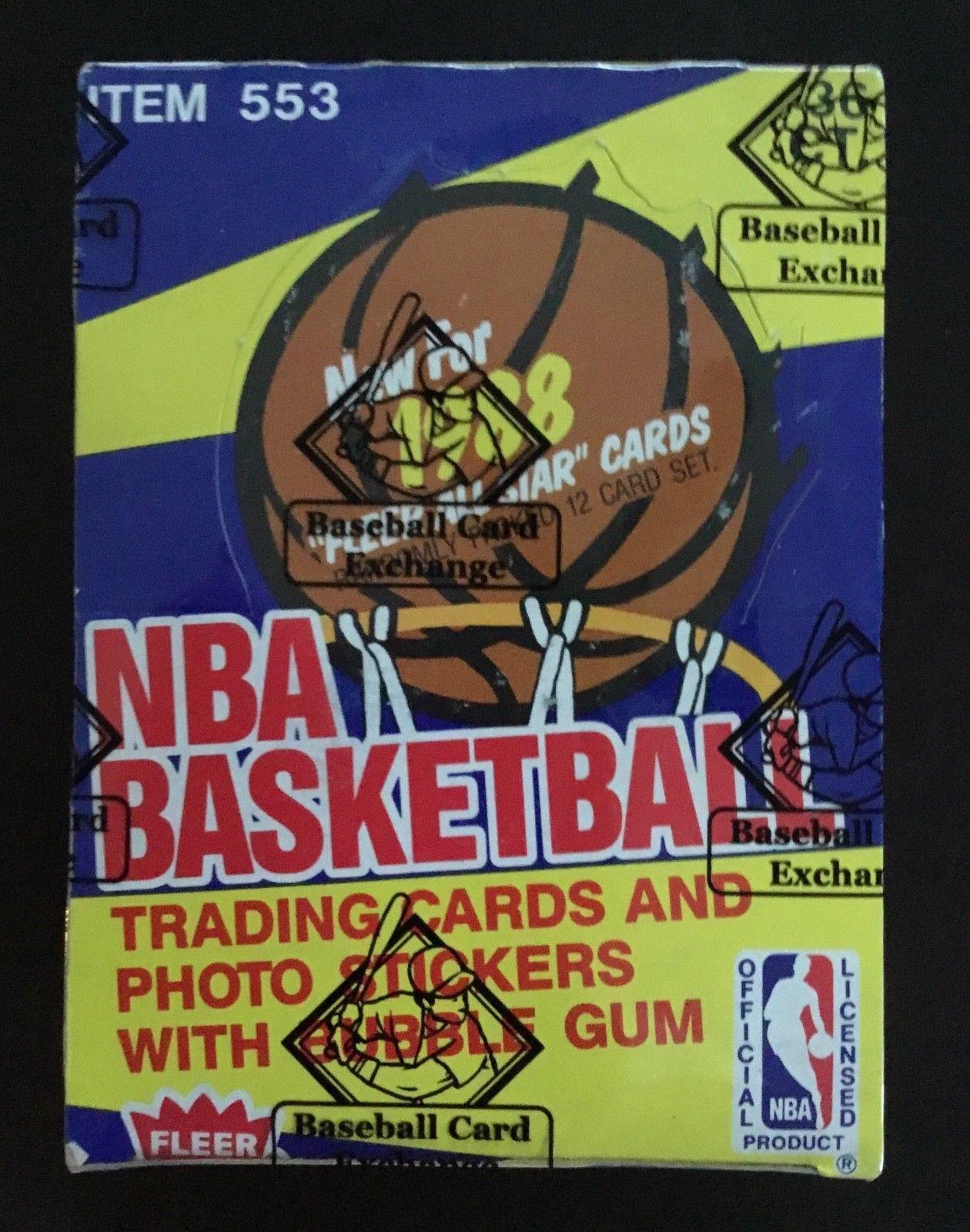 1988 fleer basketball 36 pack wax box bbce sealed
