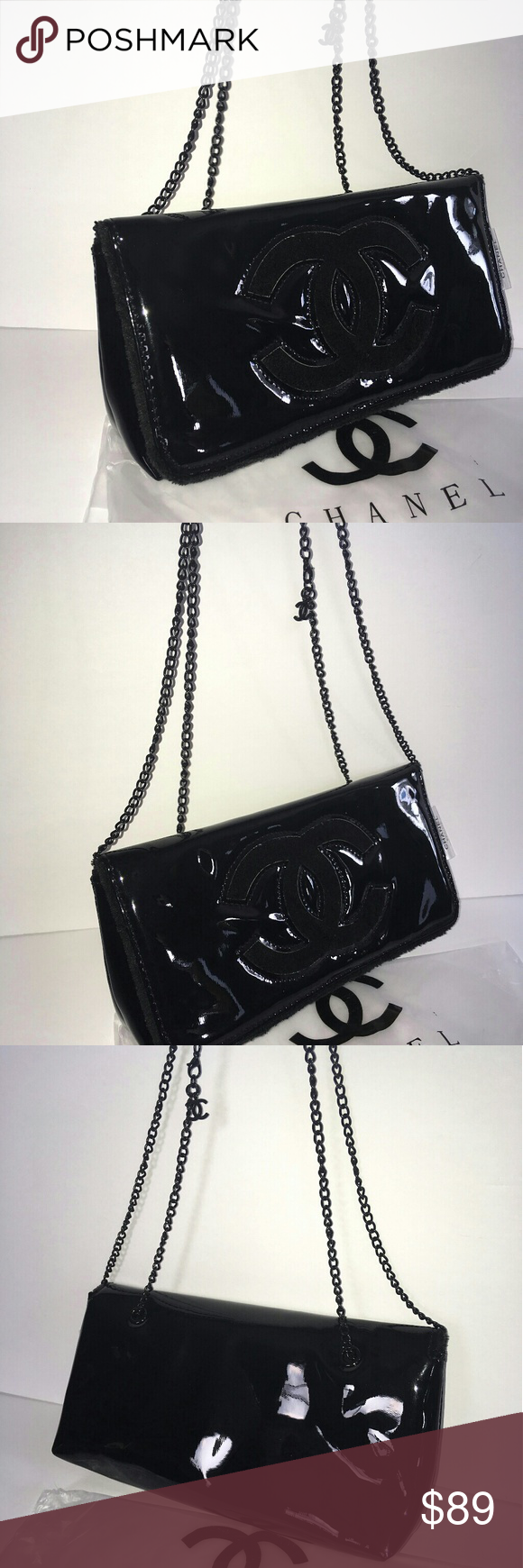 0c1684095f7b2e Beauty VIP Gift clutch /cross body bag Chanel Black beauty Cross body clutch  bag VIP