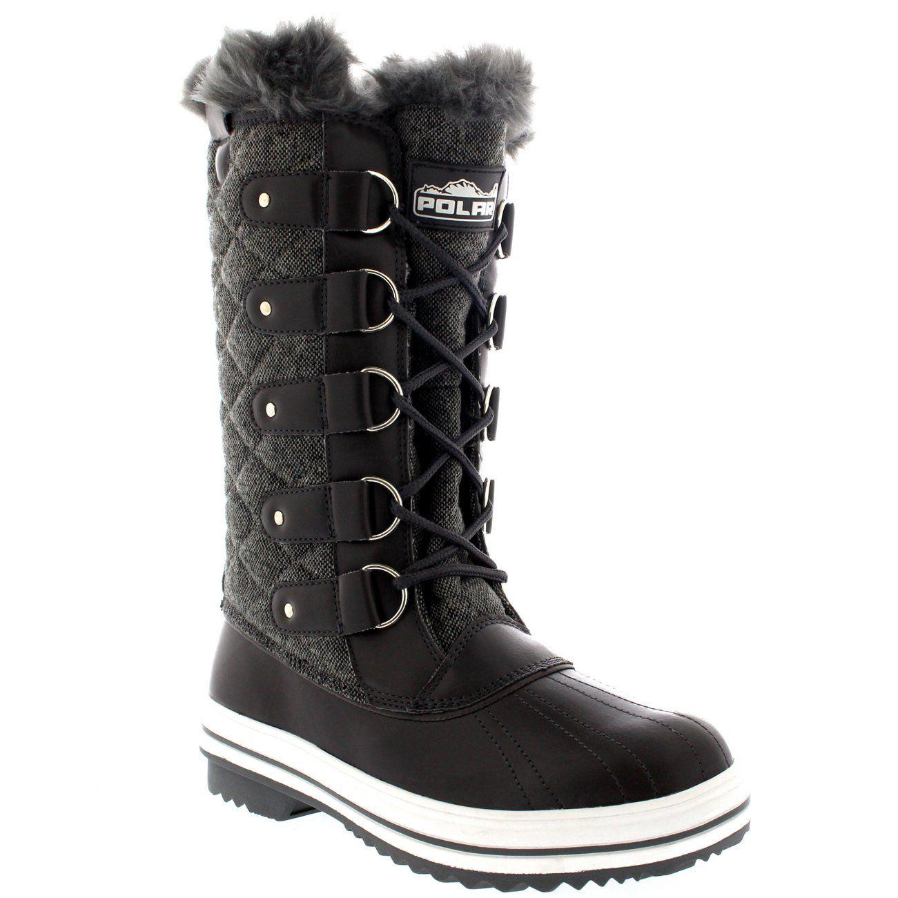 Women's Fashion Snow Boots Fur Lining Rain Footwear