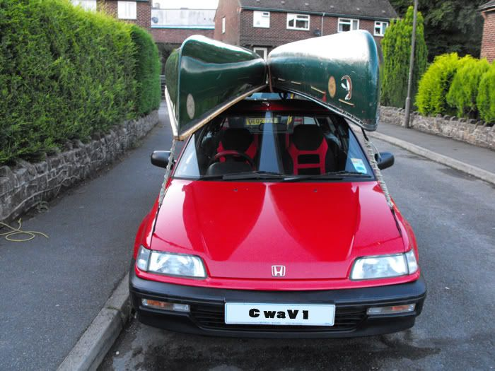 Honda Civic Hauling 2 Canoes #canoe