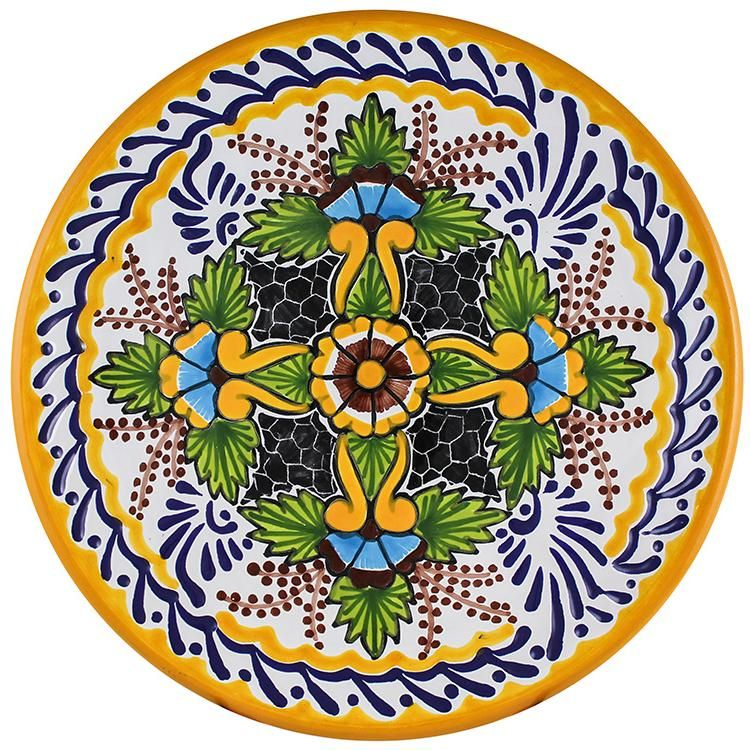 Tomas Huerta TalaveraPlate - Pattern 37 ♥️♣️♣️Talavera Mexican Pottery : More At FOSTERGINGER @ Pinterest 🔷🔹♣️