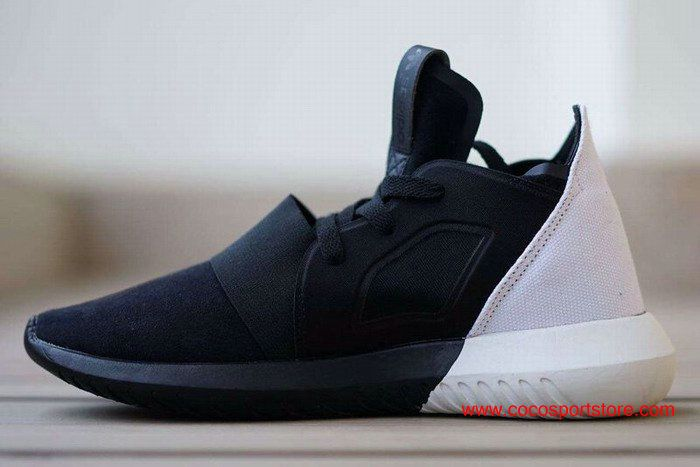 Adidas Tubular Defiant Shoes Half Black/Half White Women's Originals